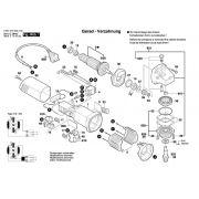 Peças para Esmerilhadeira GWS 6-115 BOSCH (0601375014)