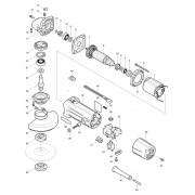 Peças para Esmerilhadeira MGA 452 - MAKITA