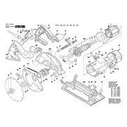 Peças para Serra Circular GKS 190- BOSCH (3601F230E0)
