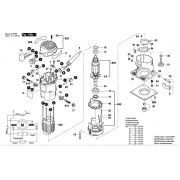 Peças Tupia Bosch GFK 600 (3601F0A0E1)