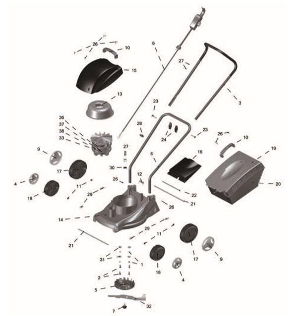 Cortador de Grama Eletrico CE30P2 Tramontina