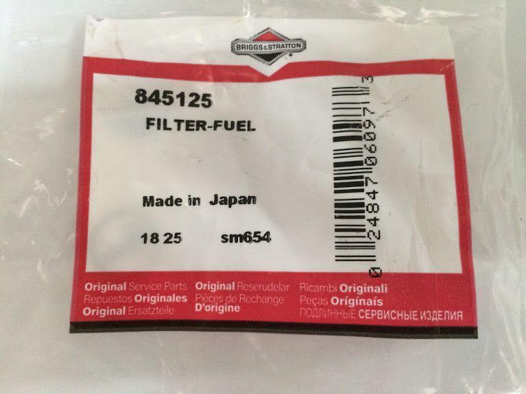 Filtro Combustivel Motores Briggs Stratton - 845125