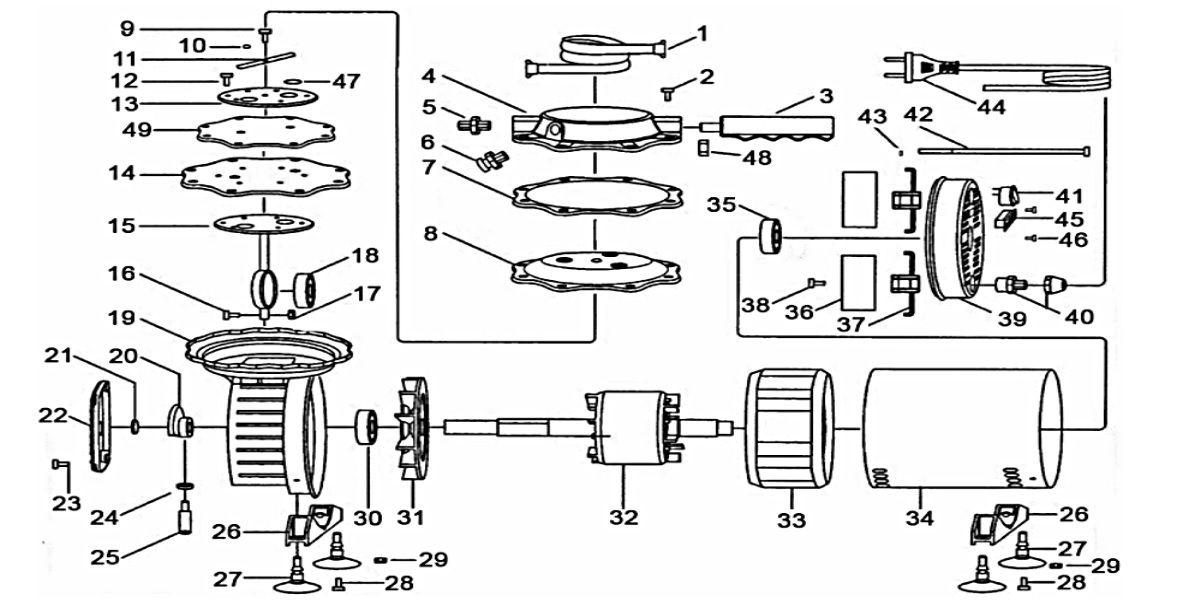 Peças Compressor ar direto VONDER 68.28.023.000