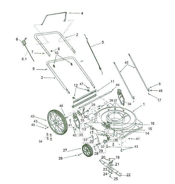 Peças Cortador de Grama B4T 6000SL - BRANCO