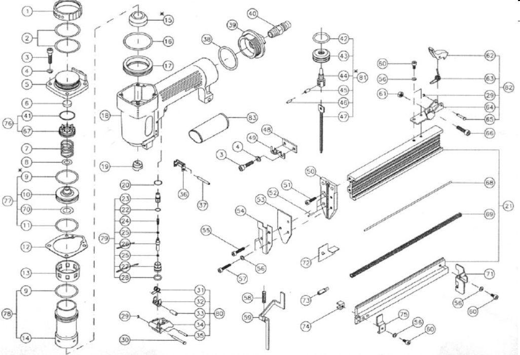 Peças p/ Pinador Pneumático AF301 - MAKITA