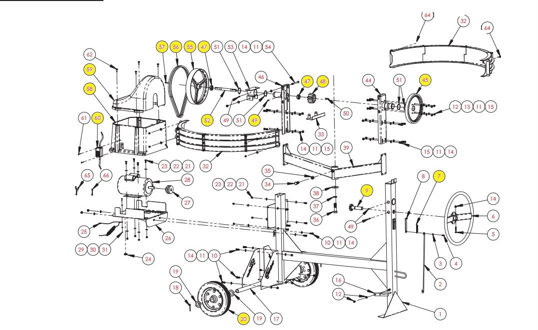 Peças para Betoneira MOB-400 - Fischer