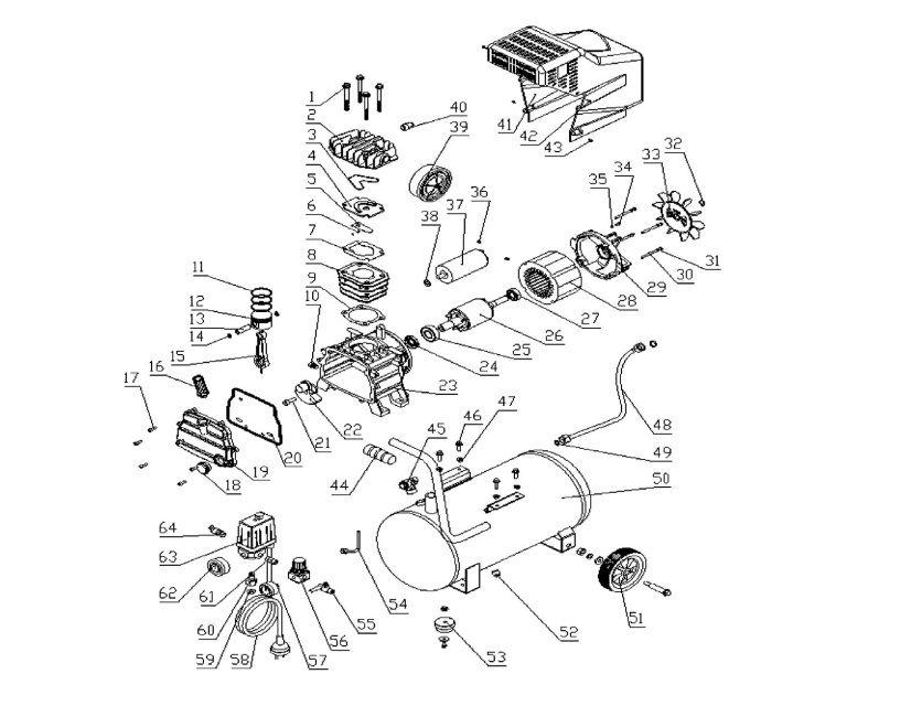 Peças para Compressor MCV 076 24 Litros  VONDER