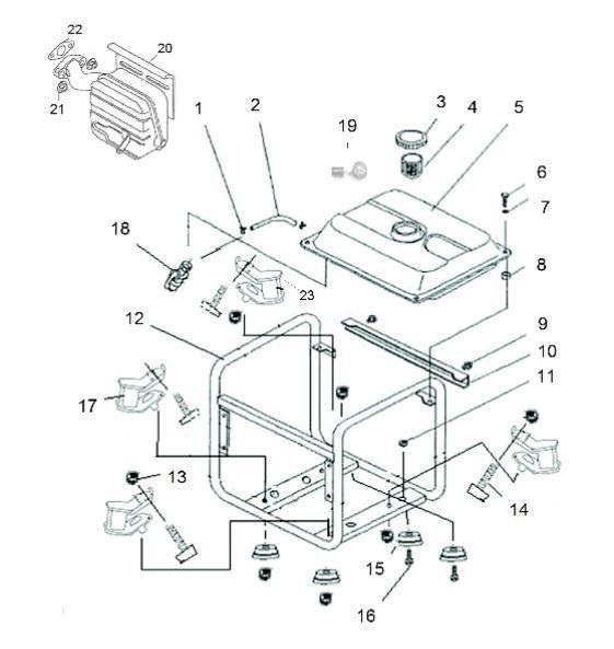 Peças para Gerador B4T 1300 - BRANCO