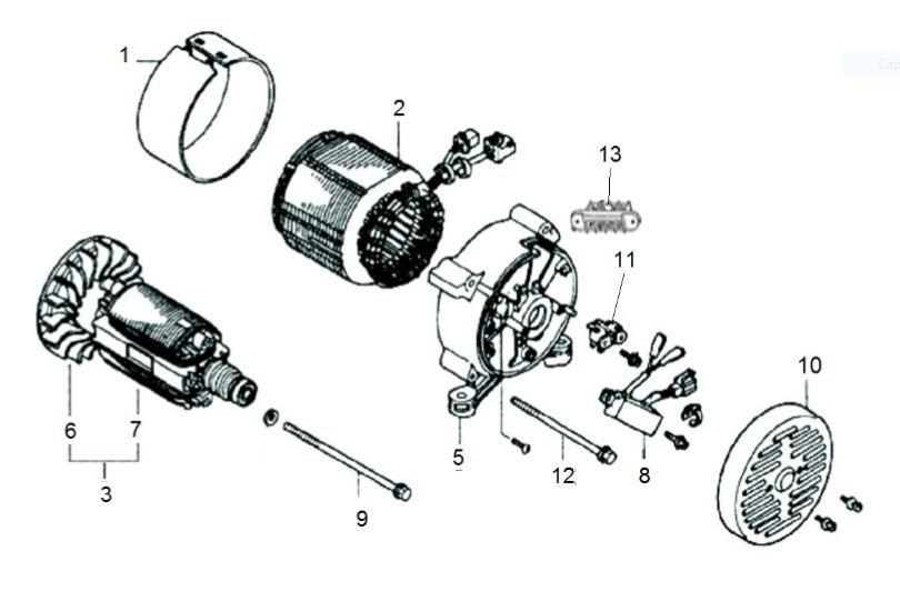 Peças para Gerador B4T 2500L - BRANCO