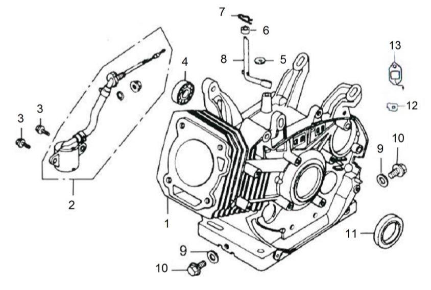 Peças para Gerador B4T 8000E - BRANCO