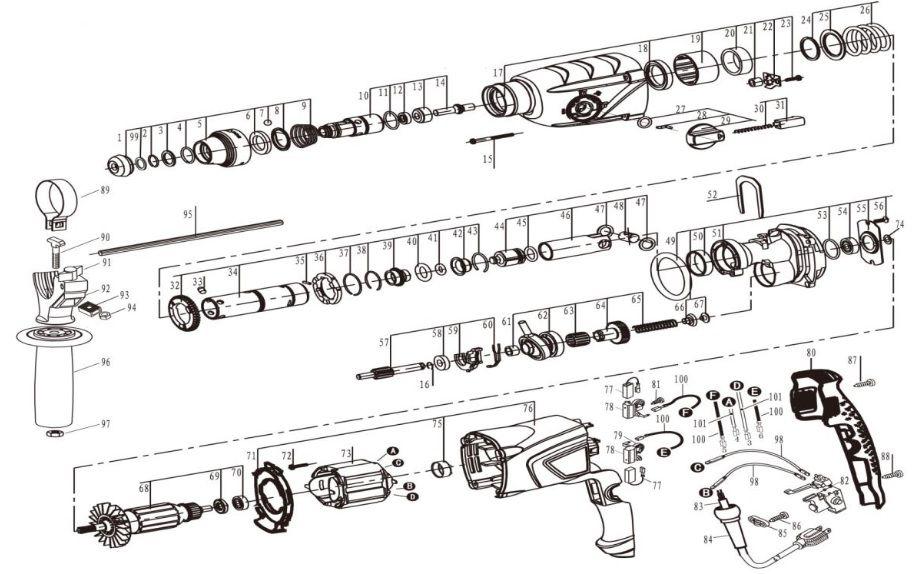 Peças para Martelete MPV 853 - VONDER