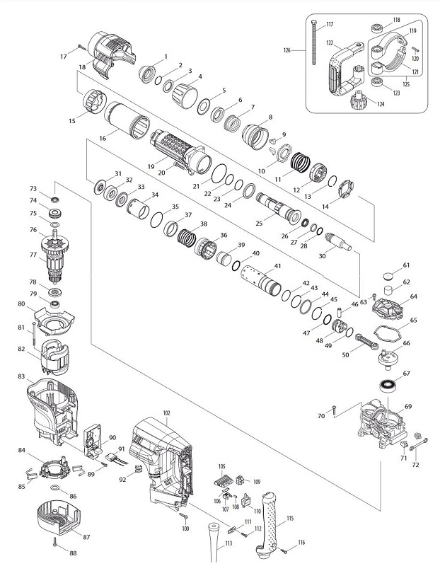 Peças para Martelo Demolidor HM 1101C - MAKITA