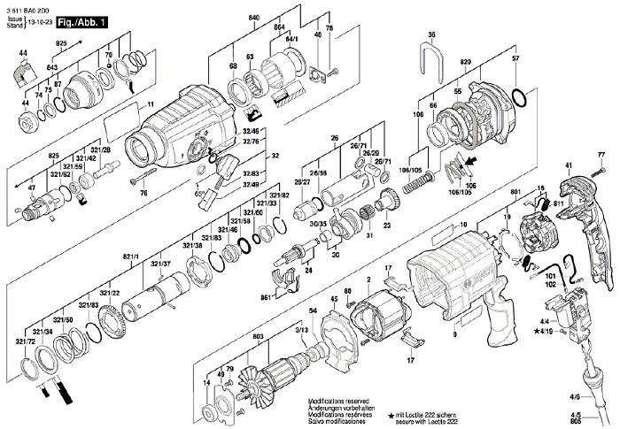 Peças para Martelo Perfurador GBH 2-24 D - BOSCH