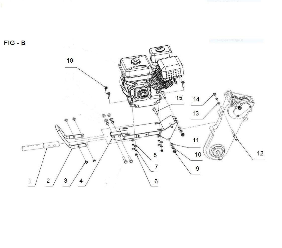Peças para Motocultilvador Tratorito BTTG 6.5 – 800 - BRANCO