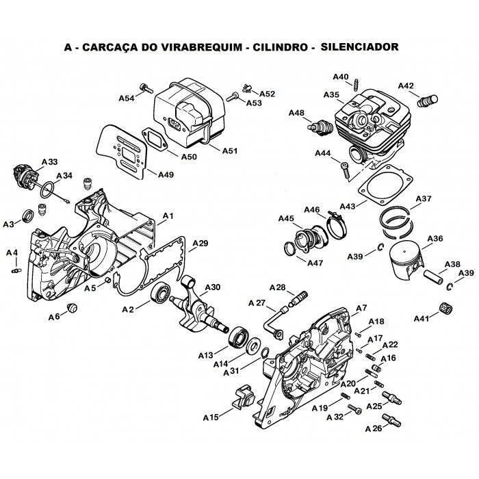 Peças para Motosserra MS 361 - STIHL