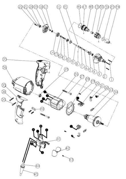 Peças para Parafusadeira Drywall STDR5206-B2 STANLEY