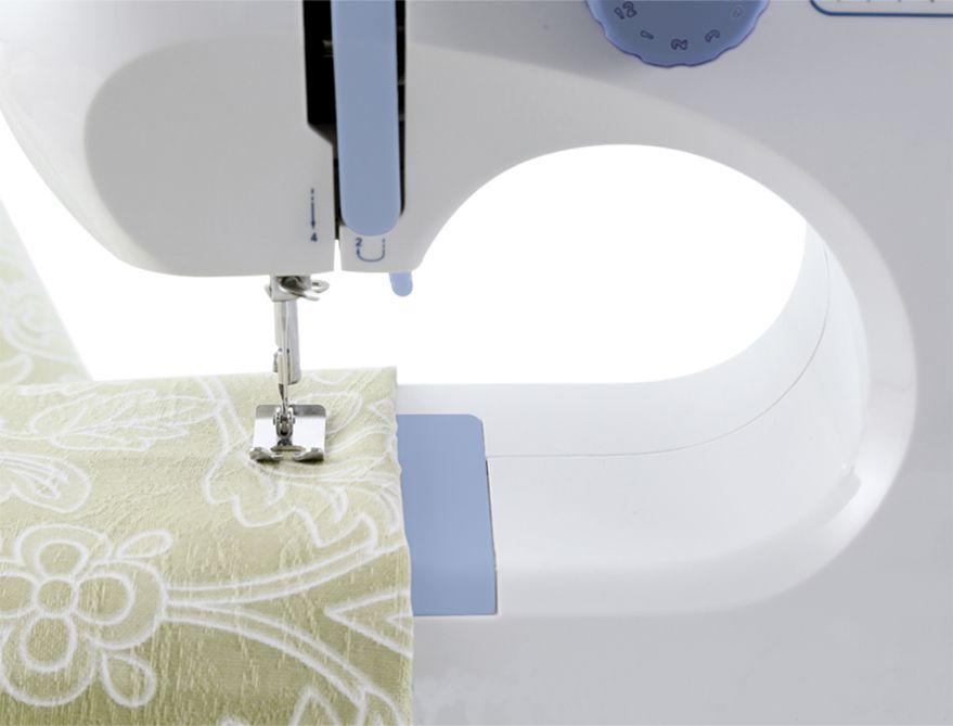 Máquina de Costura Profissional 12 Pontos + Kit Costura 60pçs GRÁTIS SM-520 Bivolt