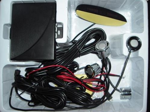 Sensor De Estacionamento Prata 4 Pontos Com Display Meia Lua