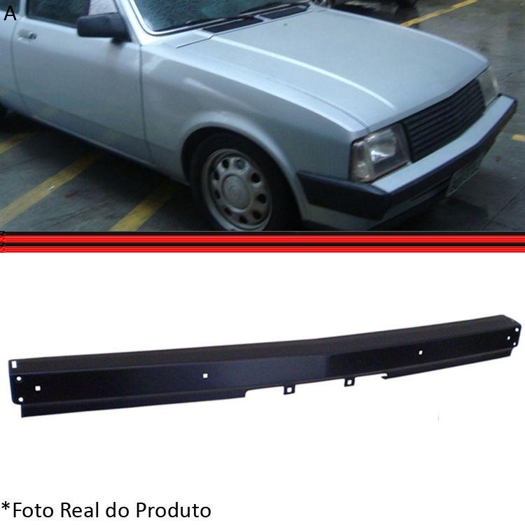 Parachoque Dianteiro Lâmina Chevette Marajó Chevy 500 83 a 86 Preto Sem Furo