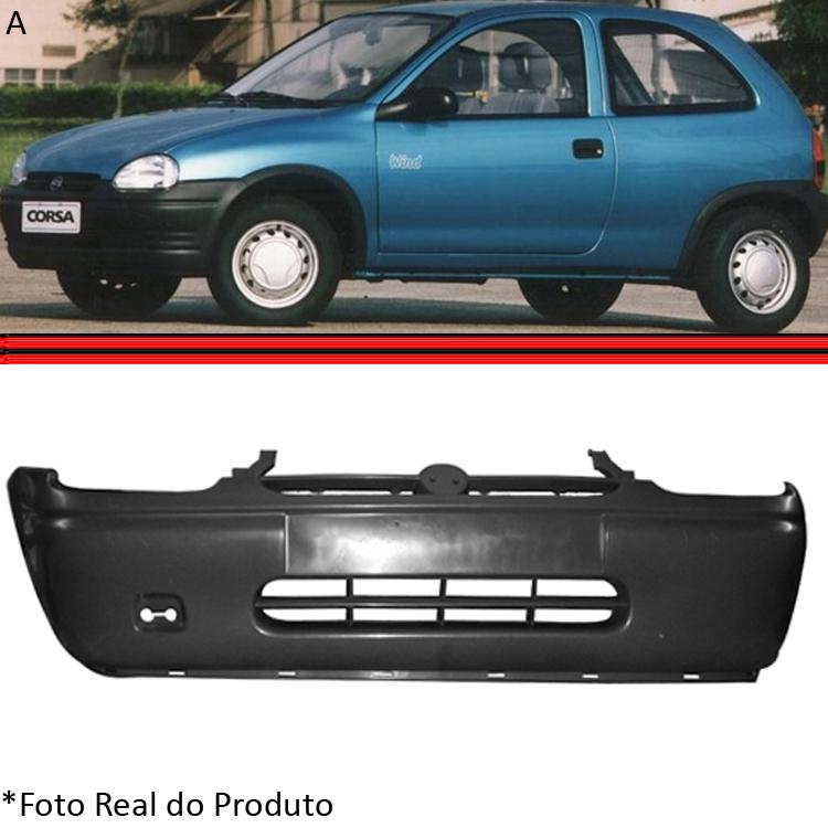 Parachoque Dianteiro Corsa Wind Hatch Super Sedan Wagon Pick-up 94 a 99 Preto Poroso