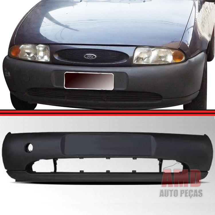 Parachoque Dianteiro Fiesta Courier 96 a 99 Preto Poroso Texturizado  - Amd Auto Peças
