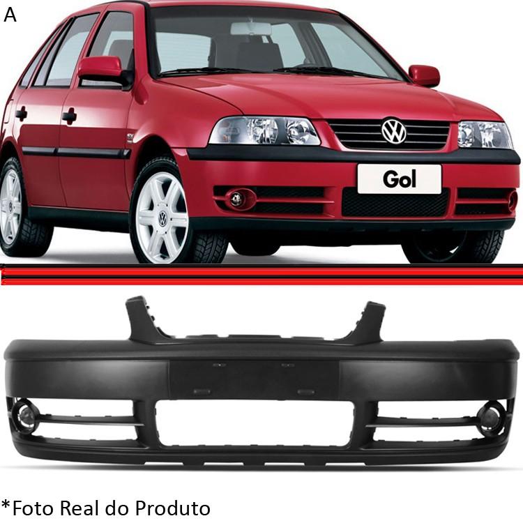 Parachoque Dianteiro Gol Saveiro Parati Bola G3 Turbo 2ª Série 03 a 05 Preto Liso