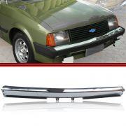 Parachoque Dianteiro Lamina Chevette Chevy 500 Marajó Cromado 83 a 86 Sem Furos para Borrachão