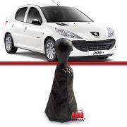 Kit Bola Manopla + Coifa Peugeot 206 207 Preta