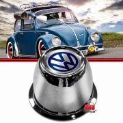 Copo Copinho Calota Centro Roda Fusca 70 a 96 4 Furos Aço com Emblema VW
