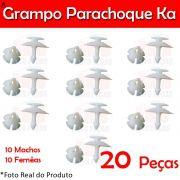 Kit Grampo Presilha Parachoque Dianteiro Traseiro Ka 97 a 07 20 Peças Machos Fêmeas