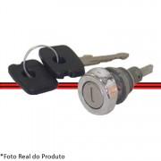 Cilindro Fechadura Tampa Mala Chevette 73 a 85 Cromado Com Chave