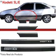 Friso Lateral - Kadett / Ipanema SL/E 91 até 96 - Preto - Jogo