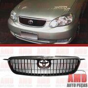 Grade Dianteira Radiador Toyota Corolla SEG Preta com Moldura Cromada