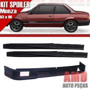 Kit Spoiler Monza 83 á 96 2 Portas Dianteiro Com Furo + Lateral Sem Tela