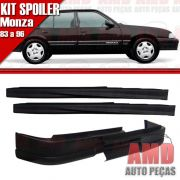 Kit Spoiler Monza 83 á 96 4 Portas Dianteiro Sem Furo + Lateral Sem Tela
