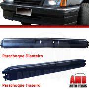 Parachoque Dianteiro e Traseiro Monza 82 a 90 Com Alma Interna Preto Texturizado