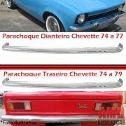 Parachoque Lamina Dianteiro ou Traseiro Chevette 74 a 79 Cromado