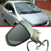 Espelho Retrovisor Controle Elétrico - Honda Fit 03 até 08