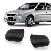 Capa Espelho Retrovisor Corsa 94 a 10 Wind Sedan Hatch Pick-up Classic Preto Textorizado