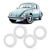 JOGO FAIXA BRANCA PNEU ARO 14 VW FUSCA VARIANT BRASILIA LARGA 6 CM
