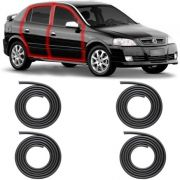 KIT BORRACHA PORTA ASTRA HATCH SEDAN 99 A 11 2/4 PORTAS COM ABA TIPO BAIXA