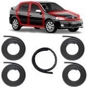 KIT BORRACHA PORTA + CAPÔ ASTRA HATCH SEDAN 99 A 11 2/4 PORTAS COM ABA TIPO BAIXA