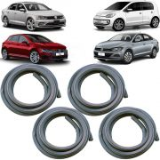 KIT BORRACHA PORTA DIANTEIRA + TRASEIRA VOLKSWAGEN POLO 17 A 19 JETTA 15 A 19 VIRTUS 18 A 19 UP 11 A 19