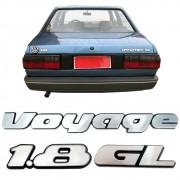Kit Letreiro Voyage GL 1.8 91 a 97 Cromado