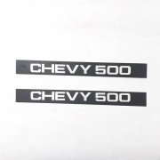 PAR PLAQUETA EMBLEMA FRISO LATERAL CHEVY 500 83 A 95