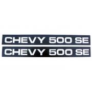 PAR PLAQUETA EMBLEMA FRISO LATERAL CHEVY 500 SE