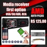Som Automotivo Radio First Option 6630BCN com USB, bluetooth e leitor de cartão SD