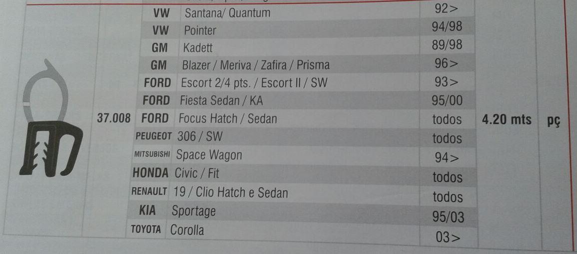 Borracha Porta Malas Corsa Celta Vectra Astra Monza 91/10
