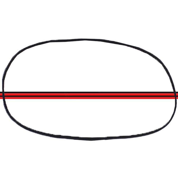 Borracha Janela Lateral Traseira Fusca Fixa 71 á 96 Com Friso