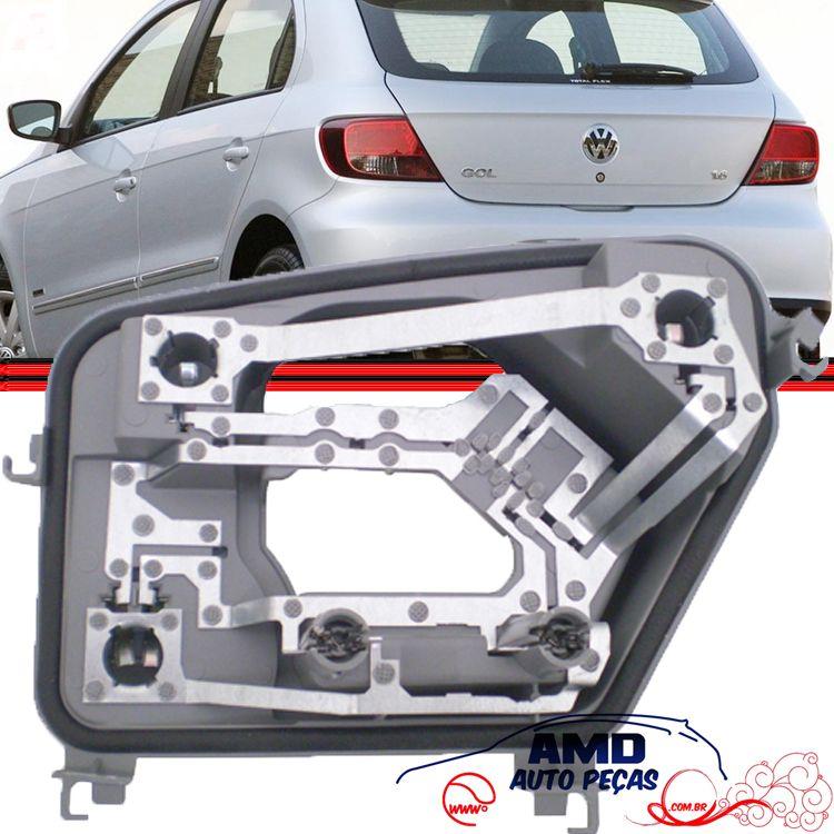 Soquete Circuito Lanterna Traseira Gol G5 GV 08 a 13  - Amd Auto Peças